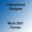 Instructional Designer Word 2007
