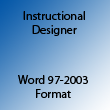 Instructional Designer Word 97-2003