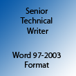Senior Technical Writer Word 97-2003